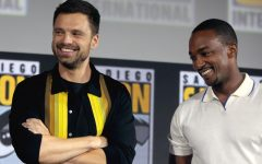 Actors Sebastian Stan and Anthony Mackie, who portray the Winter Soldier and Falcon, speak at San Diego Comic-Con.