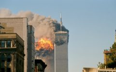The World Trade Center's south tower burns after being struck in the tragedy that took 2,977 lives.