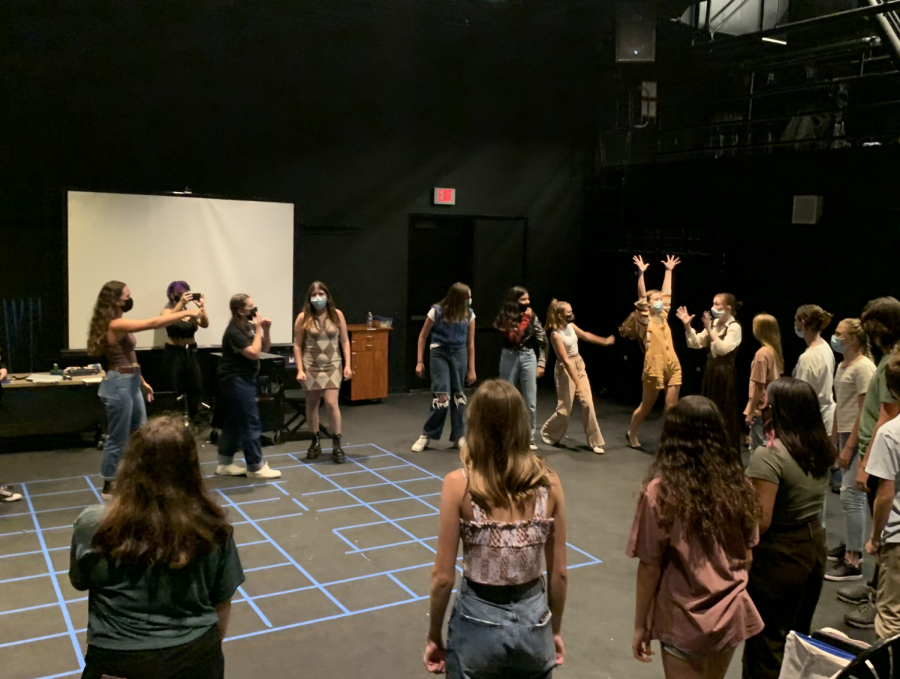 The International Thespian Society (ITS) participates in acting exercises to familiarize newcomers at their audition prep held on August 23rd.