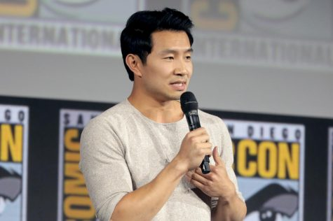 Simu Liu speaking at San Diego Comic-Con after being cast as titular main character, Shang-Chi, in Marvel's new film: Shang-Chi and the Legend of the Ten Rings.