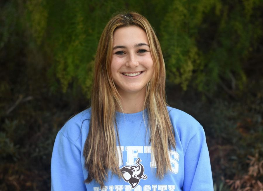 Kaitlyn Perucci (12), has committed to Tufts University, where she looks forward to a bright academic future and experience on the softball team.