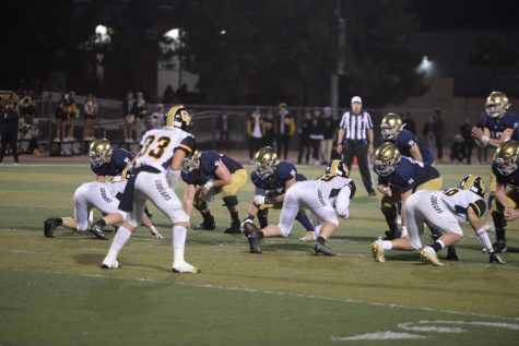 San Juan Hills defeats Capo Valley High School in exciting homecoming game. It was the teams second win of the season with a score of 66-13, breaking the school record of most points scored in a game.