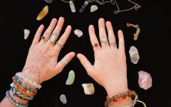 Crystals can adorn the hands and wrists in the form of jewelry in order to keep their safeguarding, protective properties nearby.